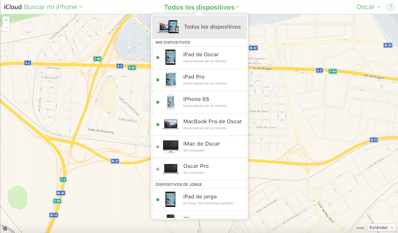 Como usar Buscar mi Mac iCloud