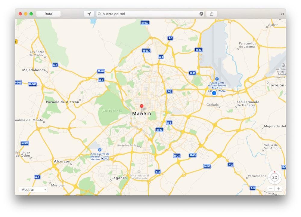 Mapas en OS X