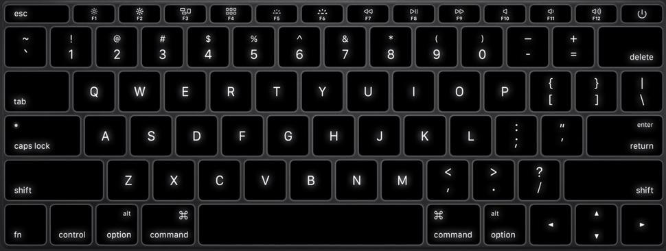 MacBook Iluminacion Teclado