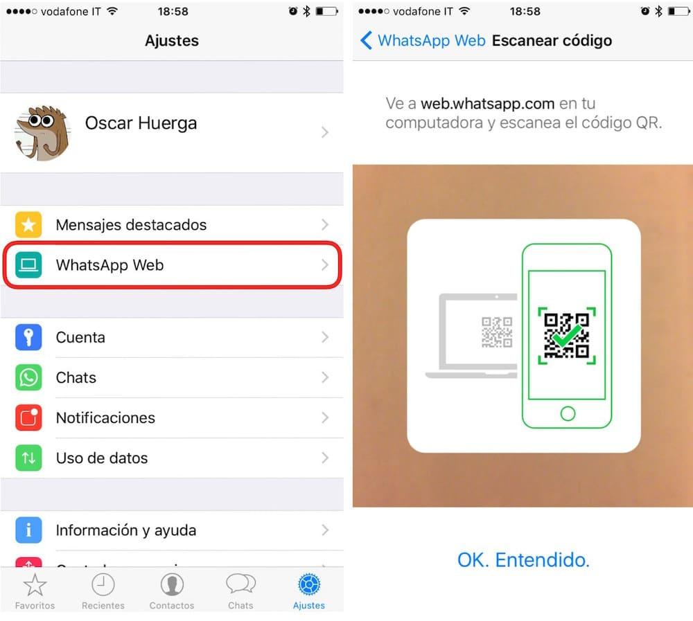 Whatsapp para iPad QR