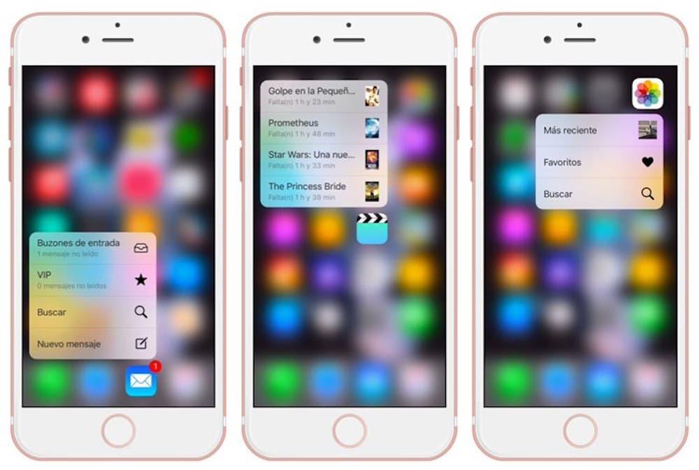 iPhone 6S Peek y Pop