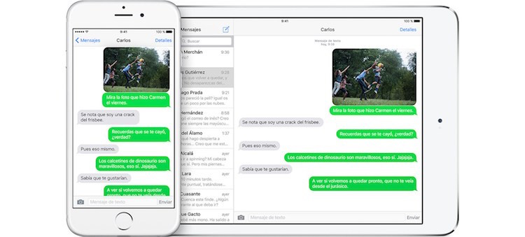 iPhone y Mac continuity mensajes