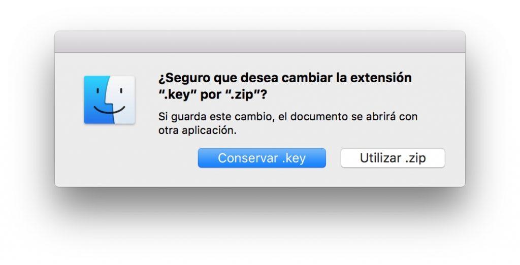 Extraer imágenes y datos Keynote ZIP